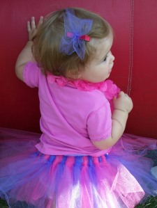 Miracle in her new tutu